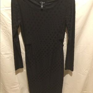 black on black dress
